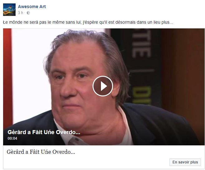 Non Gerard Depardieu n est pas mort