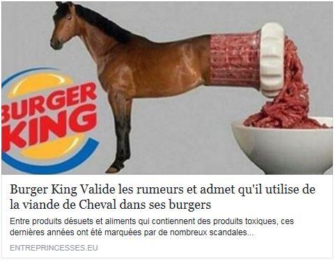 Burger King et la viande de cheval